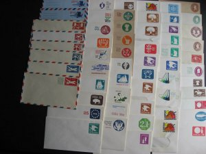 USA stationery 56 different envelopes mint 1800s - 1970s era check them out!