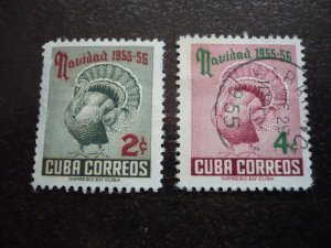 Stamps - Cuba - Scott# 547-548 - Used Set of 2 Stamps