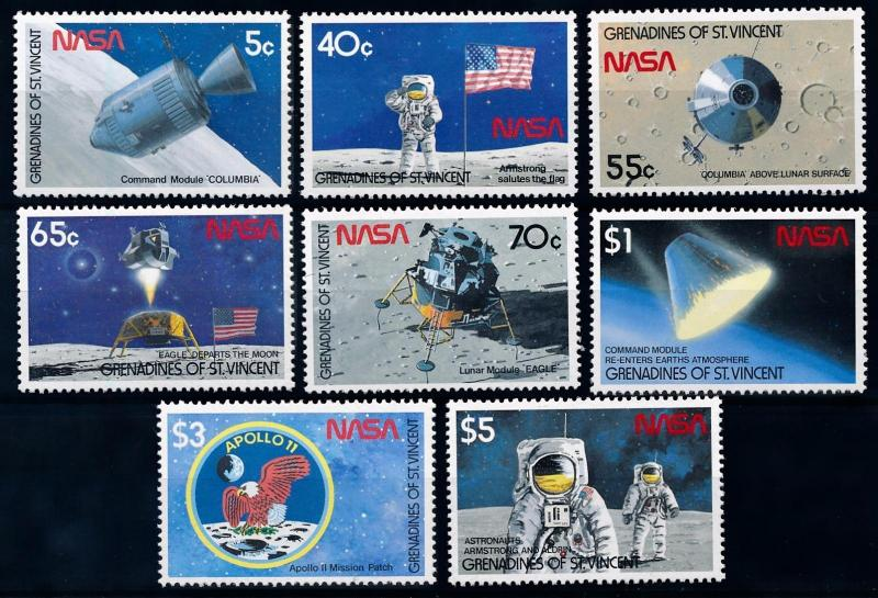 [66162] Grenadines of St. Vincent 1989 Space Travel Weltraum  MNH
