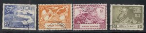 VIRGIN ISLANDS  # 92-95  VF-USED UNIVERSAL POSTAL UNION / 75th ANNIVERSARY SET