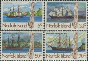 Norfolk Island 1985 SG356-359 Whaling Ships set MNH
