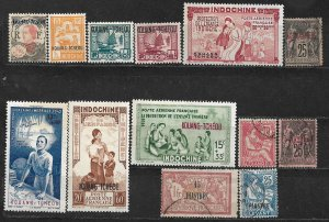 COLLECTION LOT OF 13 FRENCH OFFICES 1902+ STAMPS