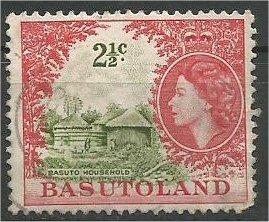 BASUTOLAND, 1962, used 21/2c, Basuto house  Scott 75