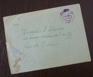 Yugoslavia 1945 Croatia Serbia Censored Cover Sent from Belgrade B3