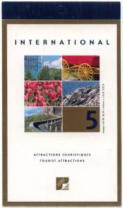 Canada USC #BK244b 2001 Tourists Attractions Booklet with Cpl. Pane of 5 x$1.050