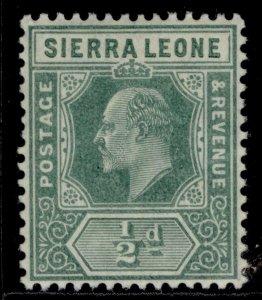 SIERRA LEONE EDVII SG99, ½d green, M MINT.