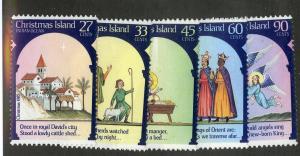 CHRISTMAS ISLAND 174-178 MH SCV $5.30 BIN $2.10 RELIGION