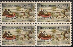 US 1551 Holiday The Road-Writer 10c block MNH 1975