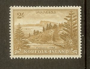 Norfolk Island, Scott #12, 2sh View of Ball Bay, MNH