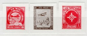 (I.B) Cinderella Collection : Aero Stamp Air Mail Essays (Express, Oliver, Rob)