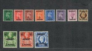 Kuwait Sc#72-81a M/NH/VF, Cv. $58.60