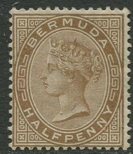 Bermuda - Scott 16 -QV Definitive -Wmk 1 -1880 - MNG -Single 1/2p Stamp