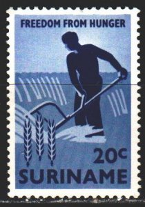 Suriname. 1963. 432 from the series. Fight against hunger, peasant. MLH.