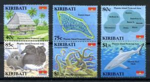 Kiribati Stamps 2008 MNH Phoenix Island Protected Area Coral Birds Sharks 6v Set