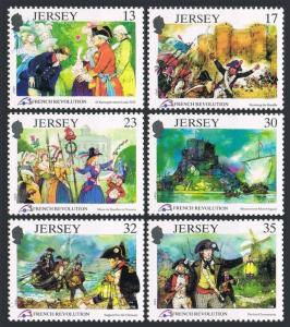 Jersey 516-521,MNH.Michel 485-490. French Revolution Bicentennial,1989.Events.