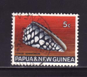 Papua New Guinea 268 U Sea Shells, Marble Cone (A)