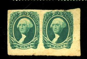 CSA #13B MINT Pair VF OG LH Light Creases Cat$160+