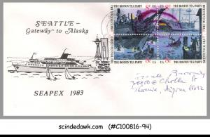 USA - 1983 SEATTLE GATEWAY TO ALASKA SEAPEX 1983 SPECIAL COVER WITH CANCL.