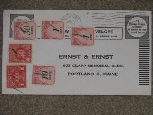US Postage Due on cover (No Postage necessary if mailed in the US)