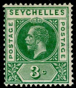 SEYCHELLES SG72, 3c green, LH MINT.