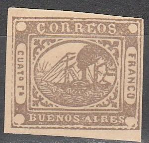 Argentina Buenos Aires #6  CV  $350.00 Reprint  (SU3920)