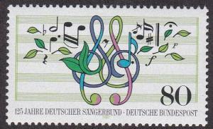 Germany # 1504, German Choral Society, NH, 1/2 Cat.
