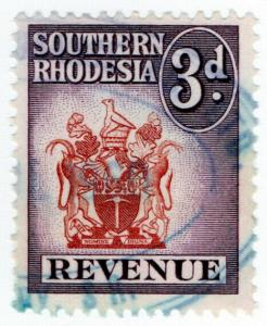 (I.B) Southern Rhodesia Revenue : Duty Stamp 3d