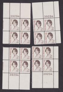 1822 Dolley Madison Set of MNH Plate Blocks - all 4 corners of #39294