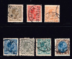 DENMARK STAMP USED STAMPS COLLECTION LOT