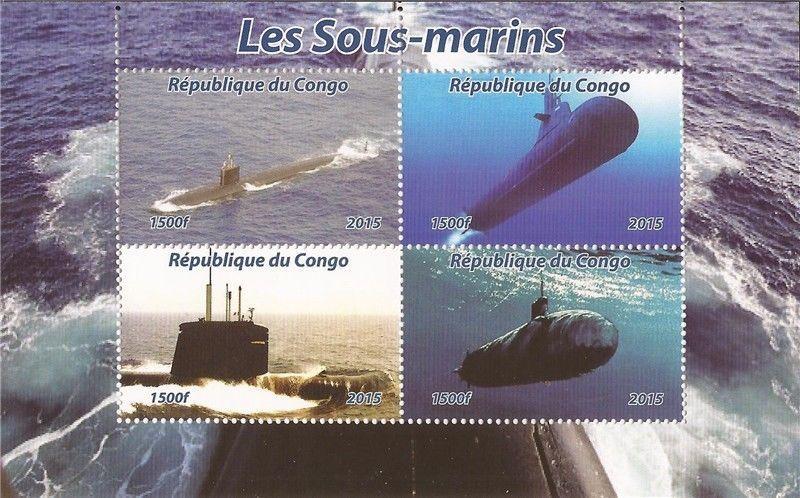 Congo MNH S/S Submarines 2015