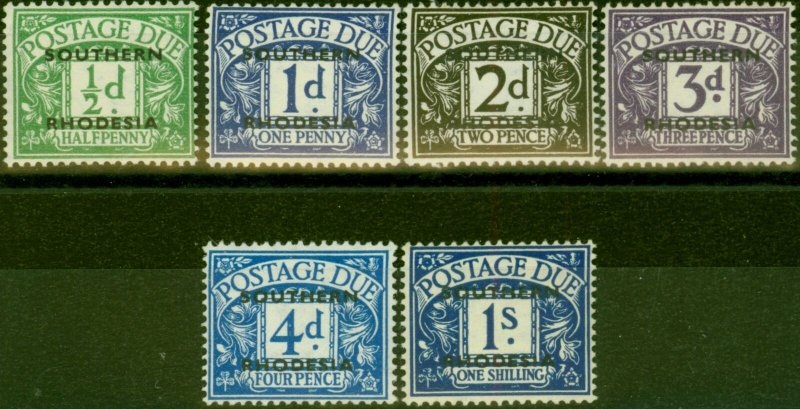 Southern Rhodesia 1951 Postage Due Set of 6 SGD1-5 & D7 Very Fine MNH