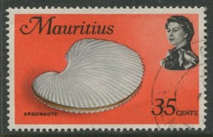 STAMP STATION PERTH Mauritius #348a Sea Life Issue FU 1972-1974