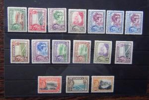 Dominica 1938 - 47 set to 10s MM