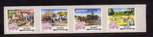 Jersey  Sc 854-7 1998 Days Gone By stamp strip mint NH