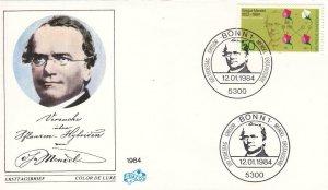 1984, Germany: Gregor Mendel, FDC, Unaddressed (D6532)