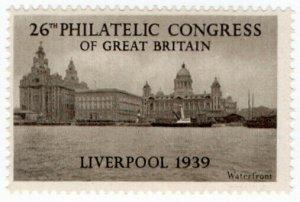 (I.B) Cinderella : 26th Philatelic Congress (Liverpool 1939) Waterfront