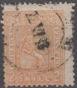 Norway #12 Fine Used CV $30.00 (B10701)