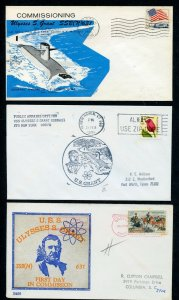 US ULYSSES S GRANT (SSBN-631) LOT OF 3 DIFFERENT COVERS 1961-1991 AS SHOWN (39)
