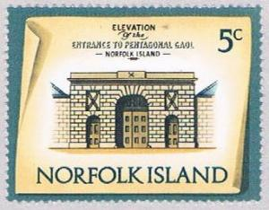 Norfolk Island 160 MLH Pentagonal Gaol Entrance 1973 (BP3132)