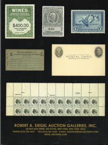 Siegel Sale 1140 Weinberg Inventory