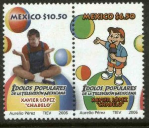 MEXICO 2529a. XAVIER LOPEZ CHABELO TV CHARACTER. PAIR. MINT, NH. F-VF.