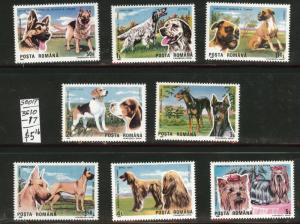 ROMANIA Scott 3610-7 MNH** Dog Shop set 1990 CV$4.55