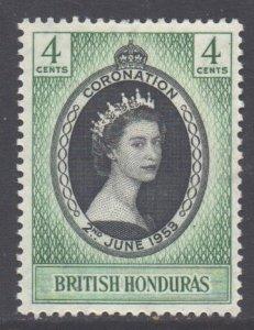 Br Honduras Scott 143 - SG178, 1953 Coronation 4c MH*