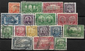 COLLECTION LOT OF 17 CANADA KG5 ERA STAMPS 1927+ CV+$90