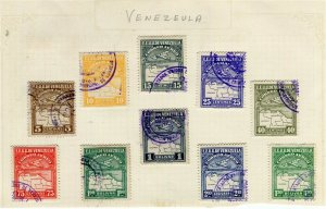 VENEZUELA; 1930s early Air issues small mixed USED LOT