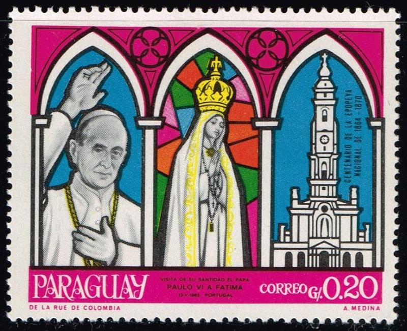 Paraguay #1128 Visit of Pope Paul VI to Fatima; MNH (0.25)