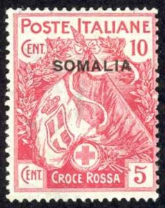 Somalia Sc# B1 MH 1916 10c + 5c Semi Postal Overprint