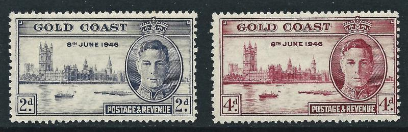 Gold Coast, Sc #128-129, 1946 Peace Issue, MH