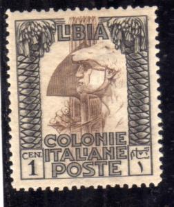 LIBIA 1921 PITTORICA CENT. 1c MLH OTTIMA CENTRATURA