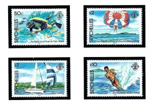 Seychelles 551-54 MNH 1984 Water Sports